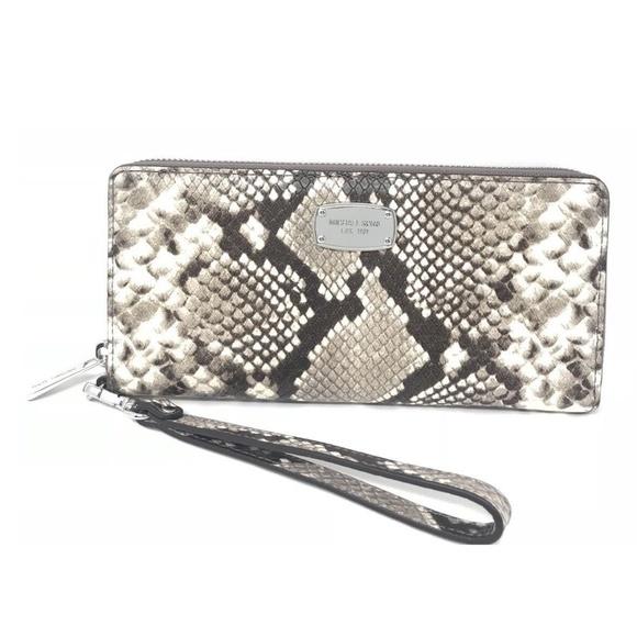 Michael Kors Jet Set Snakeskin Embossed Wallet 1bf5b8069cb3